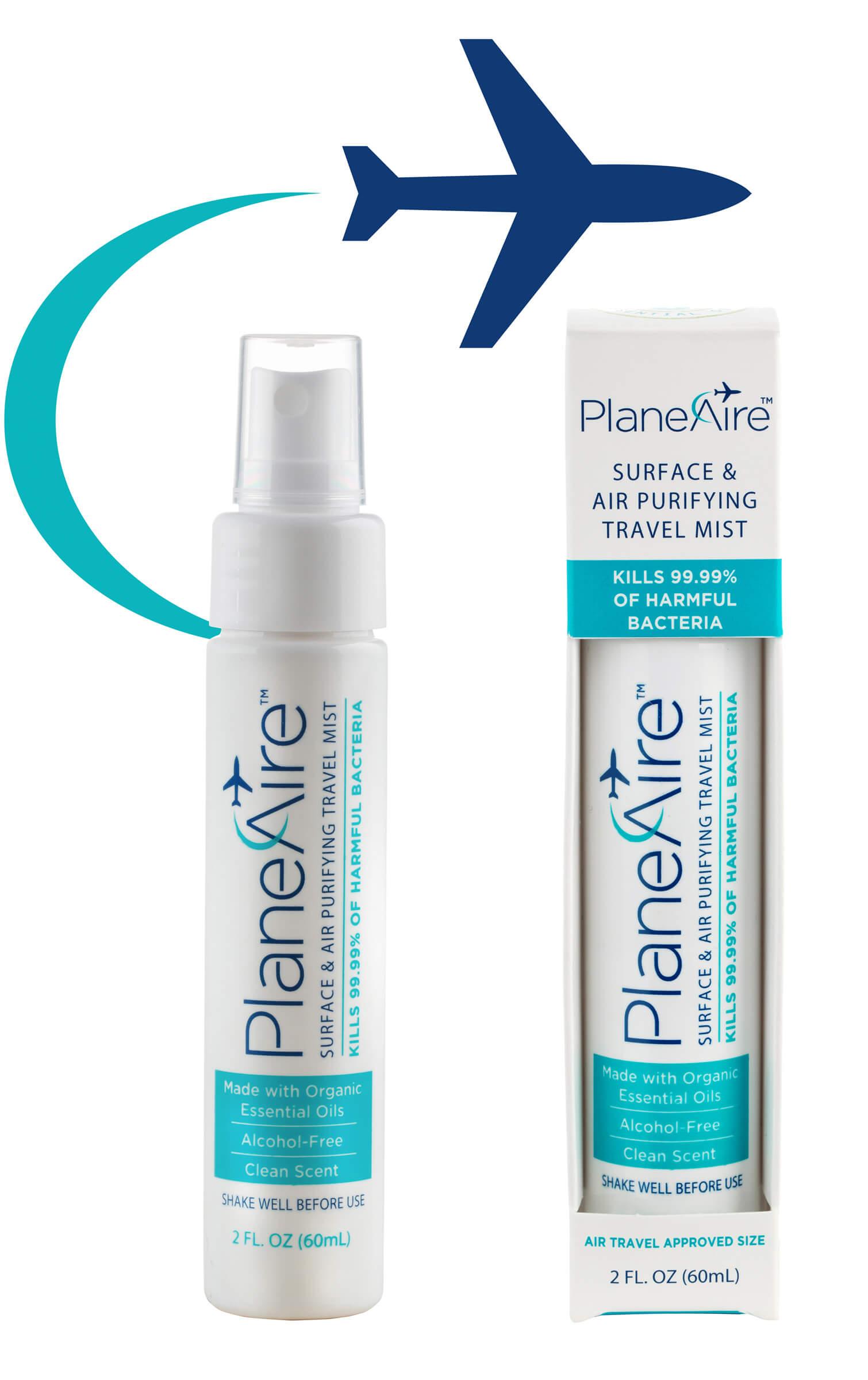 PlaneAire Travel Mist Antibacterial Spray for Travel