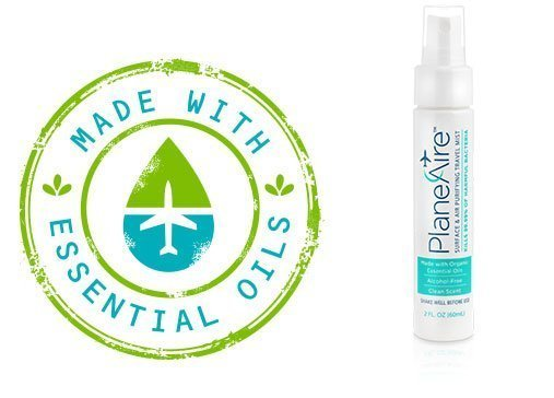 air plane sanitizing spray organic essential oils